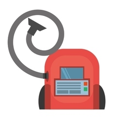 vacuum cleaner appliance cleaning house vector image