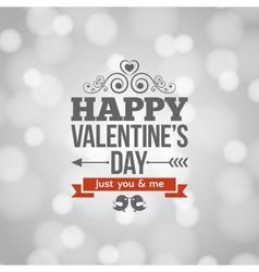 valentines day silver lights vintage background vector image