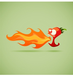 Very hot chilli pepper vector