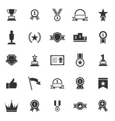 winner icons on white background vector image