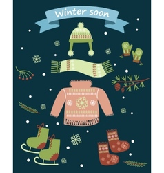 Winter soon vector