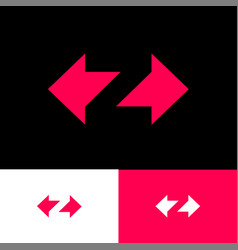 z logo with arrows letter optical illusion vector image