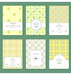 card with graphic geometric patterns vector image vector image