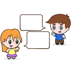 children talking vector image