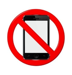 No mobile phone sign vector image vector image
