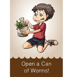 Open a can of worms vector