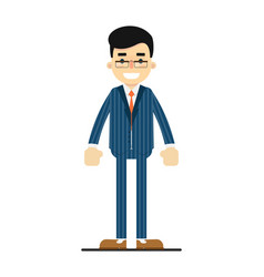 positive and young office manager character vector image vector image
