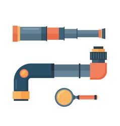 spyglass telescope lens vector image vector image