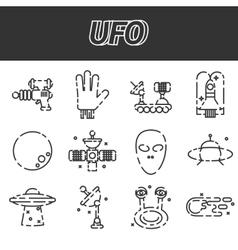 UFO icon set vector image vector image