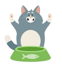 Cat and its Pipkin vector image