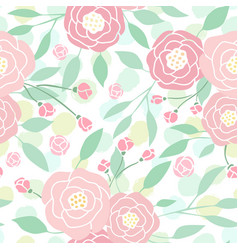 cute pastel peony flowers on white vector image vector image
