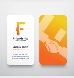 friendship abstract sign symbol or logo vector image