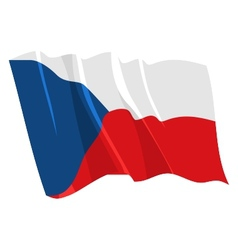 political waving flag of czech republic vector image vector image
