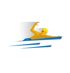 swimmer in the water vector image vector image