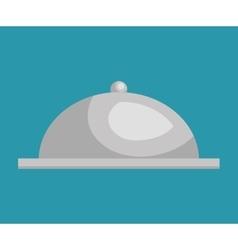 tray dish server silver icon vector image vector image
