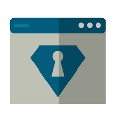 Web page security system technology vector