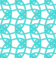 White tangled knots with loops on white vector image