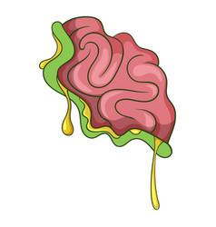 zombie brain icon cartoon style vector image