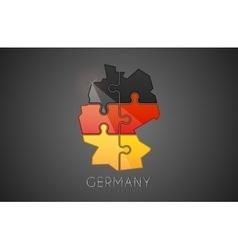 Germany logo puzzle germany logo design creative vector