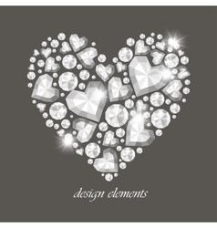 Heart of Diamonds vector image