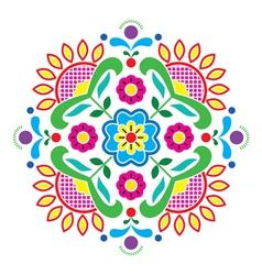 Norwegian traditional folk art Bunad pattern vector image