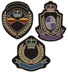 royal badge vector image vector image