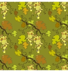 Seamless pattern with white grape vector image