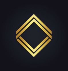 square line gold geometry logo vector image vector image