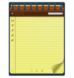 vector notepad template vector image vector image