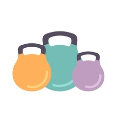 Dumbbells isolated vector image