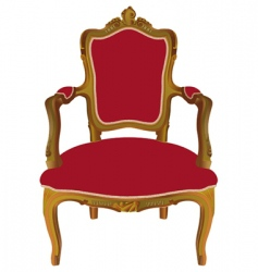 Louis xv armchair vector image