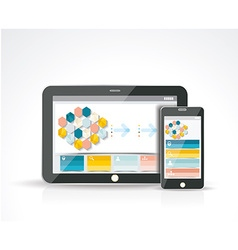 Smartphone and a Tablet PC with a responsive vector image vector image