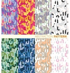 A set of colorful abstract pattern vector image