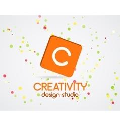 Abstract logo design Creativity studio vector