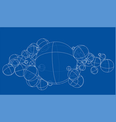 abstract outline spheres concept vector image