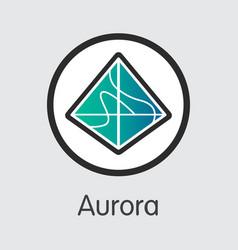 Aoa - aurora the market logo of coin or market vector