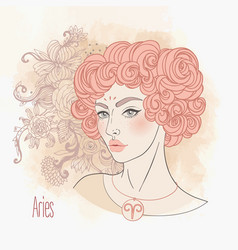 aries astrological sign as a vector image