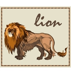 Beast lion isolated vector