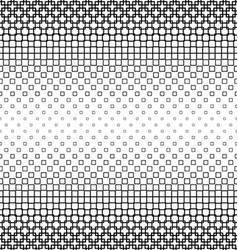 Black and white square pattern design background vector