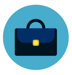 briefcase or suitcase icon round blue background vector image