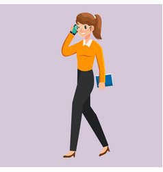 Business women with different posture vector