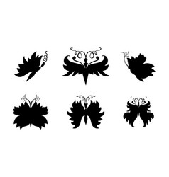 butterflies silhouettes for laser cutting vector image