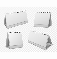 calendar mockup blank organizer with white paper vector image
