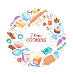 Cartoon baking banner vector