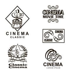 cinema labels set vector image