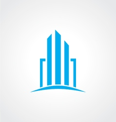 Cityscape abstract logo vector