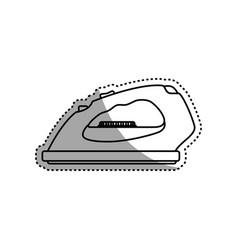 Clothes iron electric household appliances vector