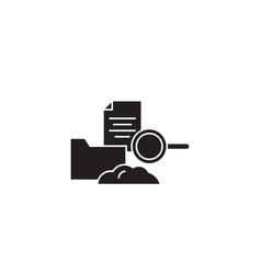 cloud hosting black concept icon cloud vector image