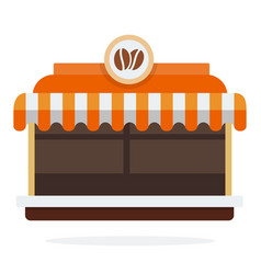 coffee shop exterior flat isolated vector image