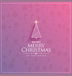 Creative christmas tree design on subtle festival vector